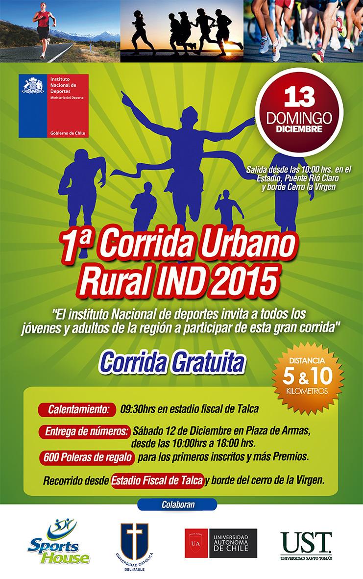 Afiche corrida IND 2015